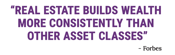 Quote Real Estate Builds Wealth More Consitently than Other Asset Classes End Quote Forbes