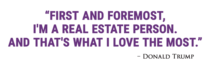 First and foremost, I'm a real estate person. And that's what I love the most.